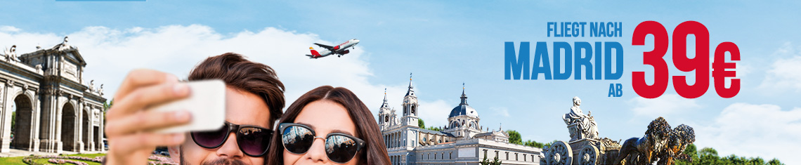 Fliegt nach Madrid ab 39€