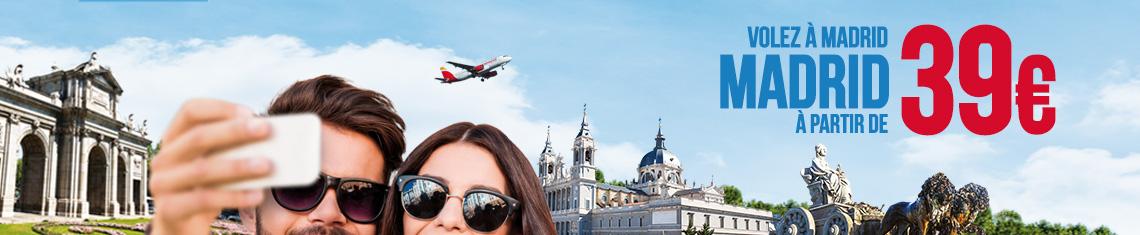Volez à Madrid à partir de 39€