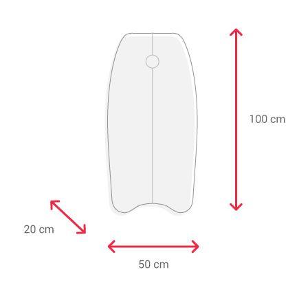 size bodyboard