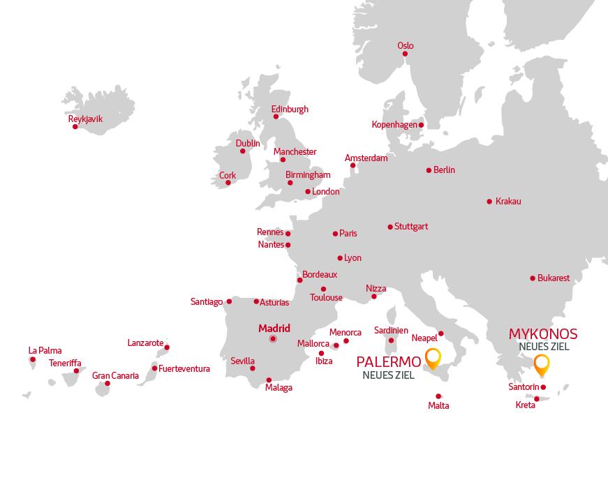 Strecken Iberia Express