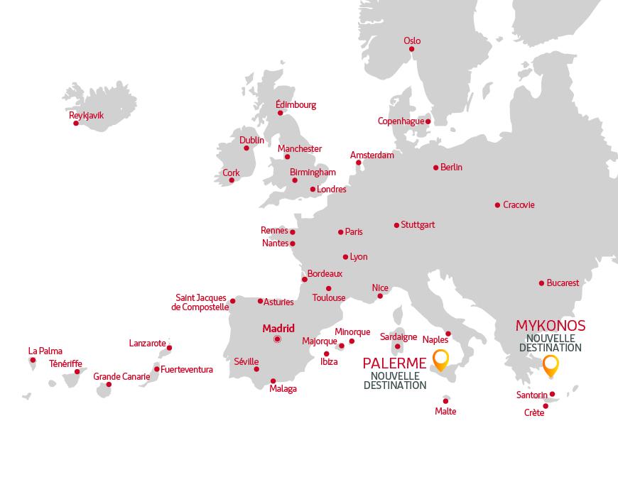 Itinéraires Iberia Express